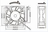 12V 24V IP68 imperméabilisent le ventilateur de C.C 60X60X25mm