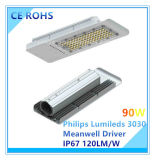 Luz de calle Ultra-Delgada de Philips Lumileds 120W SMD LED con el programa piloto de Meanwell