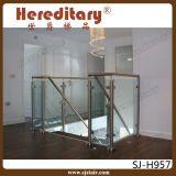 Balaustre de cristal del acero inoxidable de la barandilla de interior de la escalera (SJ-S082)