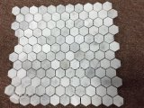 Hexagon Marble Mosaic Wall Tile Italien-White 1 ''