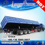 반 튼튼한 세 배 차축 옆 덤프 트레일러, 판매를 위한 옆 팁 주는 사람 트럭 트레일러