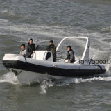 Barcos militares infláveis do reforço do motor dos barcos de patrulha rápida de Liya 7.5m