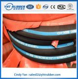 Haut tuyau hydraulique renforcé de fil d'acier de Presure, tuyau hydraulique tressé de fil de deux Plys
