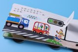 libros de la cartulina de Hacer estallar-UPS del coche 3D