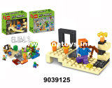 Os brinquedos educacionais, plástico brincam o presente da promoção do bloco de apartamentos (9039127)