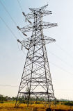 탑을 교차하는 4개의 다리가 10kv-1000kv에 의하여 직류 전기를 통했다