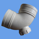 90 do cotovelo do PVC graus de encaixe de tubulação para a drenagem com porta da inspeção