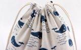 Sacs promotionnels mignons de coton de modèle de mode avec des cordons