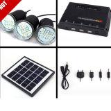 Sistema ligero móvil solar (4W impermeabilizan, luz móvil y el powerbank móvil)