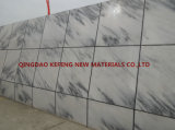 Mattonelle della parete della banda nera di pietra naturale e mattonelle di pavimento di marmo bianche
