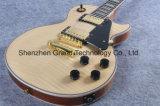 Guitarra elétrica do Lp da flama feita sob encomenda com o tigre natural da cor (GLP-85)