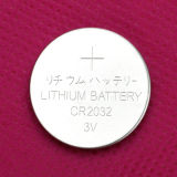 Cellule 3V Cr2032 de bouton de lithium de micropuissance