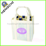 Shop (HC0006)를 위한 로고 Printed Non Woven Wine Bottle Bag