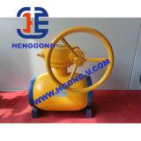 溶接された球弁を浮かべるAPIの手動ハンドルの炭素鋼