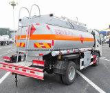 5 toneladas de JAC reabastecem o petroleiro 5000 de petróleo do tanque litros de caminhão do transporte