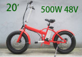 20 дюймов складывая велосипед тучной автошины электрический