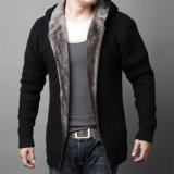 Zipper Cardigan Sweater degli uomini con Thickening Fibrous Wool Yf1561