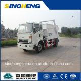 中国Sinotrukの小さいごみ収集車のスキップのローダー