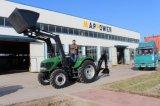 Низкий трактор фермы Pric4wd 100HP с затяжелителем начала