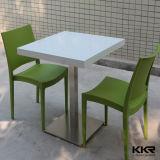 Weiß 2 Seater Quadrat und runde Gaststätte-Speisetisch