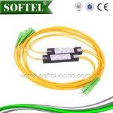PLC óptico 1*4 de la fibra FTTH mini