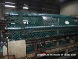 Treillis métallique à chaînes enduit de diamant de frontière de sécurité de PVC