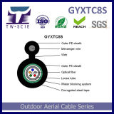 Auto-sustentável GYXTC8S Fig 8 cabo de fibra óptica