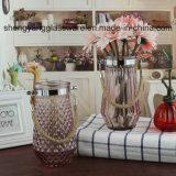 Florero de cristal alto del vidrio de la flor de la dimensión de una variable del cilindro de los floreros de la decoración casera