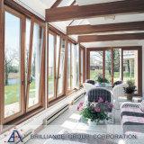 Finestra di vetro di alluminio lustrata doppio di girata e di inclinazione