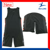 Blank Sublimation Couper et coudre Sports Gear Wrestling Singts