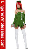 Costume de Cosplay de trappe de mouche de Venus de vert d'usager de Veille de la toussaint des femmes sexy