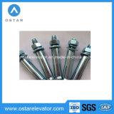 Tornillos de ancla plateados cinc galvanizados de los componentes del eje (OS25-A, OS25-B)