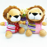 Mini jouet bourré de lion de lion animal mou de peluche