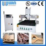Linha central da elevada precisão 4 que processa a máquina de gravura de madeira do router do CNC