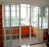 Porte coulissante en aluminium d'interruption bon marché thermique de choc d'ouragan avec le prix départ usine