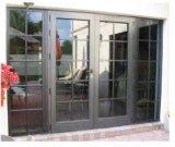オフィスのための緩和されたガラスが付いている鉄のフレンチドア