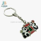 Livrar do esmalte relativo à promoção da liga da decoração do projeto a panda feita sob encomenda Keychain