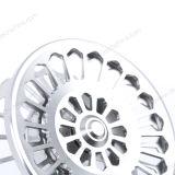 Carrocería de aluminio exclusiva del metal todo el carrete de la pesca de mosca del CNC