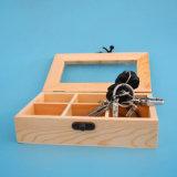 Empaquetage en bois d'étalage de guichet clair élégant