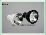 luz pura 80ra 90ra 95ra del punto del proyector del aluminio 5W LED GU10 de 220V/110V 0-100% Traic Dimmable con ángulo estrecho