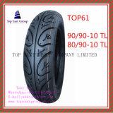 Schlauchloser, Superqualitätsmotorrad-Reifen mit 90/90-10tl, 80/90-10tl