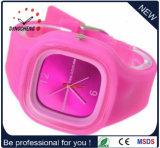 高品質の安い価格の日本Movtシリコーンプラスチック水晶腕時計(DC-1023)