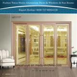 Дверь Китая алюминиевая нутряная с по-разному панелями и конструкциями
