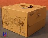 Cartón de papel de encargo rápido empaquetado de la caja de embalaje de alimentos y la torta de regalo