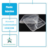 Iniezione di plastica personalizzata della plastica della casella di immagazzinamento in il contenitore degli alimenti a rapida preparazione degli articoli per la tavola a gettare