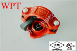 Mechanical Grooved Tee Joint para Plastic Coated Fire Pipe