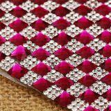 Feuille en cristal adhésive de maille de Rhinestone pour la décoration Rgj-003