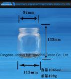 De ronde Transparante Fles van het Glas van de Houder van de Kaars voor Decoratie