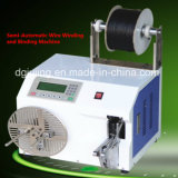 Máquina de enrolamento semiautomática do bobinamento do fio do cabo do PLC