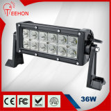Teehon 7.5in ATV Motorcycle를 위한 2 Rows Straight Epistar Chips 36W LED SUV Light Bar